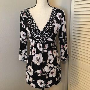 [WHBM] Kimono Style Floral Top
